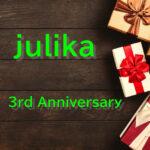 julika 3周年